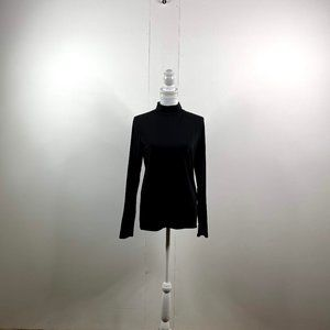 everlane women turtle neck shirt size large black